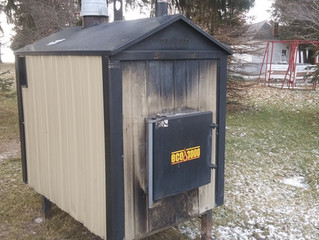 (Sold) Eco 3000 Used Outdoor Wood Furnace Boiler