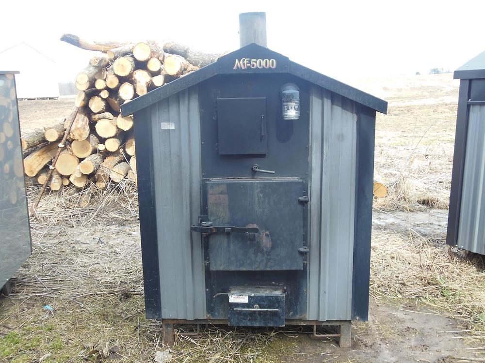 Used Heatmaster MF 5000 outdoor wood furnace