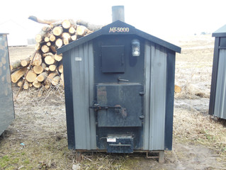 (Sold) Used Heatmaster SS MF5000 Outdoor Wood Furnace