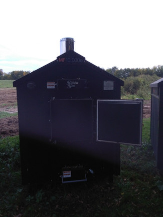 (Sold)2015 Display Unit HeatMaster MF10,000e Outdoor Wood Furnace(Sold)