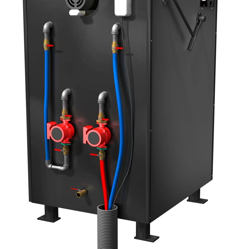 outdoor wood furnace typical installation