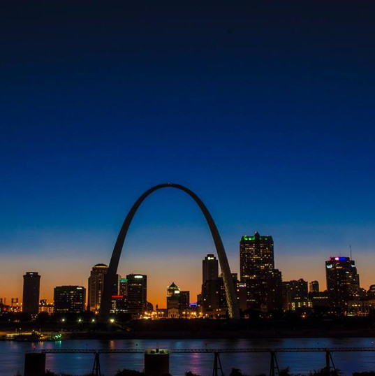Night Reflections of the Gateway Arch