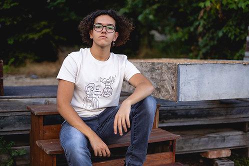 """Let's Be Human Together"" - Men's Premium Organic Shirt"