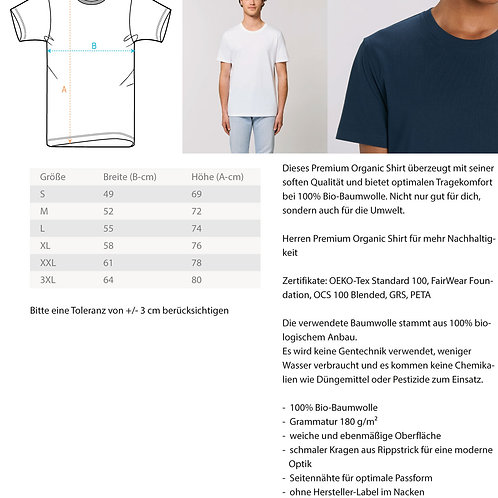 Grateful T-Shirt (Large Print)  - Herren Premium Organic Shirt