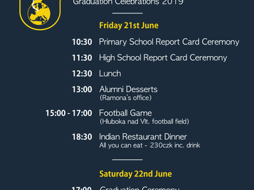 End of Year Celebrations 2019 (Schedule)