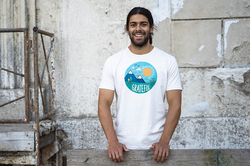 """Grateful"" - Mens's Premium Organic Shirt"