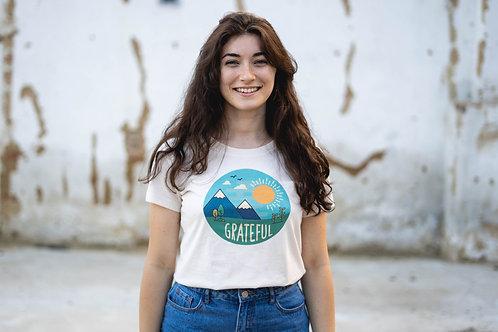 """""""Grateful"""" - Women's Premium Organic Shirt"""