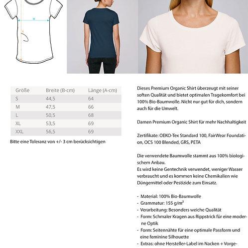 Grateful T-Shirt (Large Print)  - Damen Premium Organic Shirt