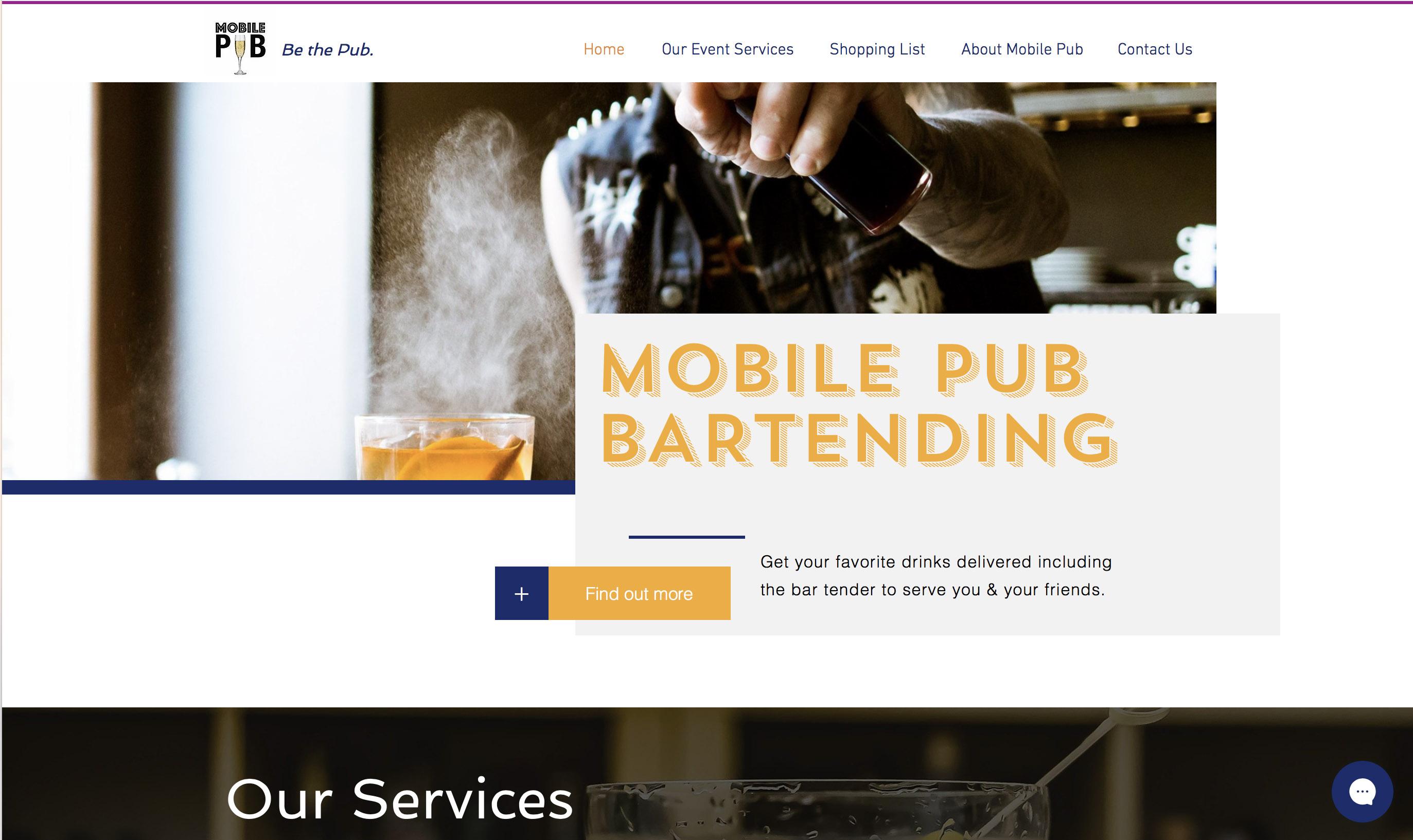 Mobile Pub Test Website