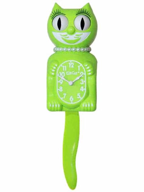Fun Chartreuse Lady Kit-Cat Clock