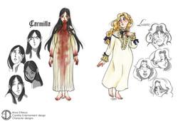 Carmilla-Character Designs