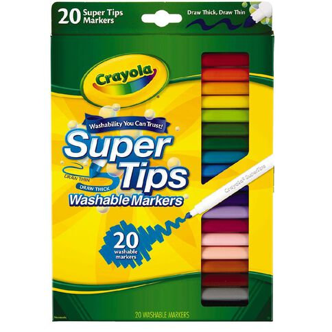 Crayola Super Tips Washable Markers - 20