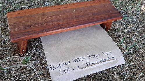 Prayer Stool - Hinged - Recycled Matai  #2