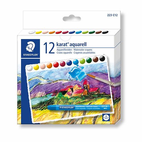 Staedtler Karat Watercolour Crayons - 12