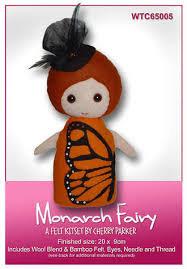 Monarch Fairy - Felt Kitset