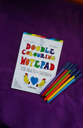 Doodle Colouring Notepad A5