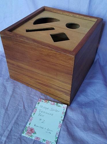 Recycled Rimu Shape-Sorter Treasure Box #2
