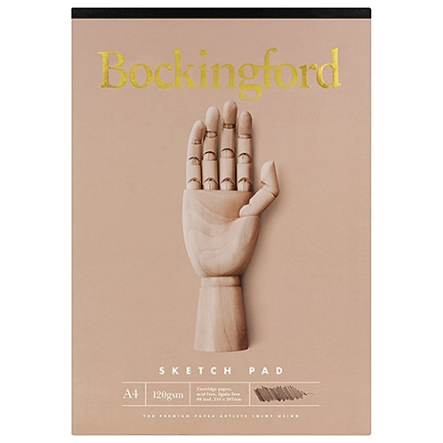 Bockingford A4 Sketch Pad - 60 leaf, 120 gsm