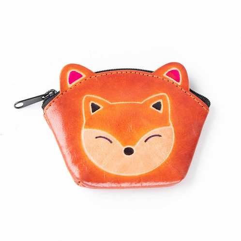 Fox Coin Purse with zip