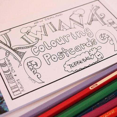 Colouring Postcards - Kiwiana