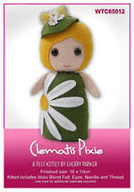 Clematis Pixie - Felt Kitset by Cherry Parker