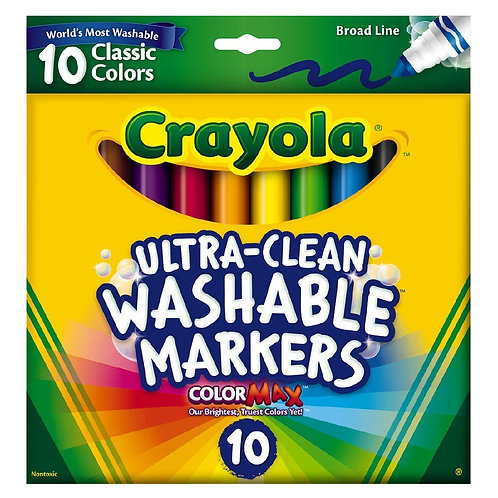 Crayola Ultra-Clean Washable Markers - Box of 10