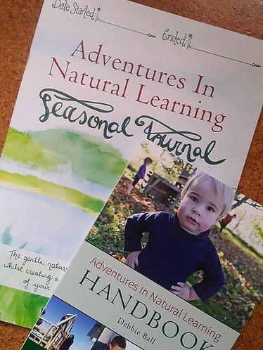 Adventures in Natural Learning Pack:  Handbook & Seasonal Journal