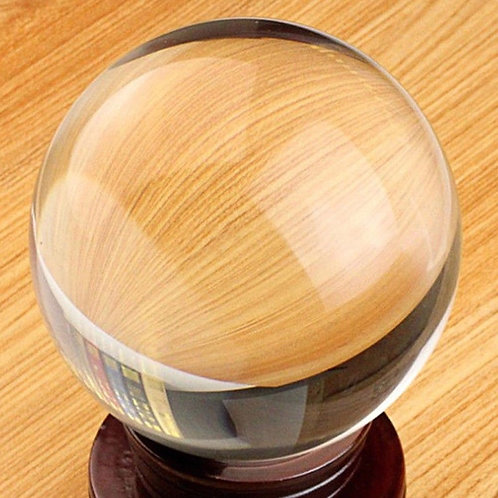Clear Glass Sphere - Lens Ball - 45mm