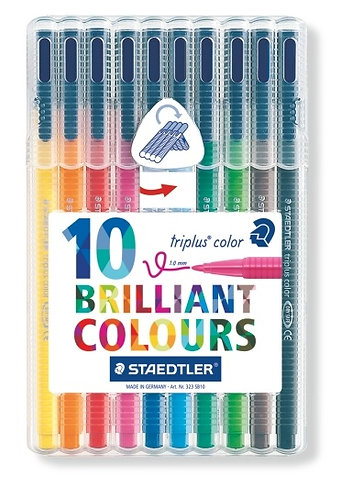 Staedtler Triplus Colour Felt Pens - 10