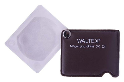 Waltex folding pocket magnifying glass