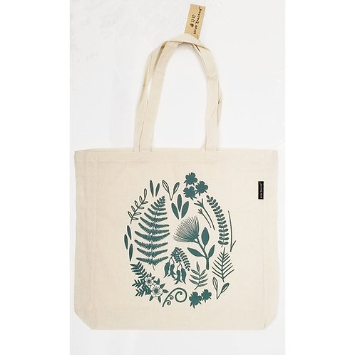 Cotton Bag - Kiwiana Flora or Fantail Print