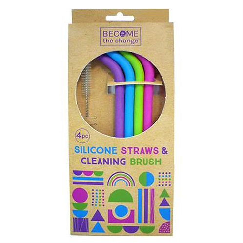 Become The Change Silicone Straws