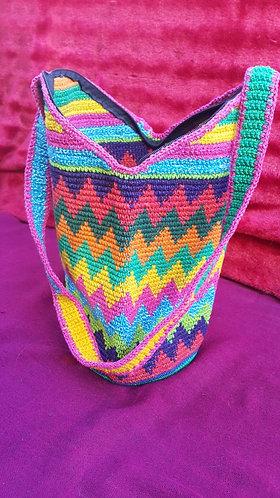 Multi-coloured Handmade Guatemalan Bucket Bag #8