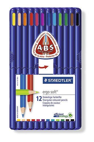 Staedtler Ergo Soft Coloured Pencils - 12