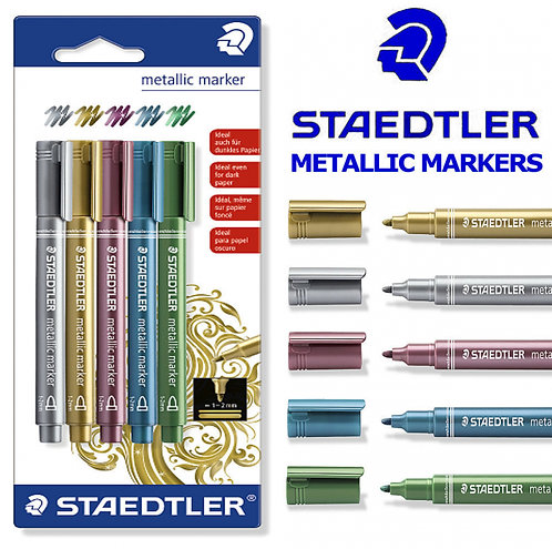 Staedtler Metallic Markers - Pack of 5 colours