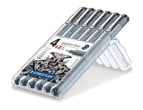 Staedtler Pigment Liner 4+2 Pens Set