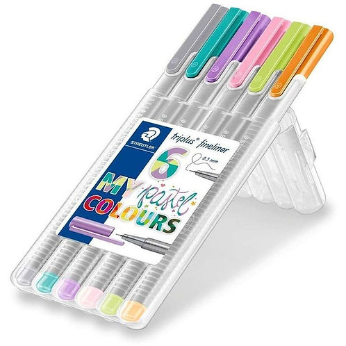Staedtler Fineliners - Pack of 6 Pastel colours