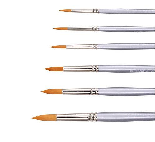 Jasco Gold Synthetic Round Brush - Size 10 and 12