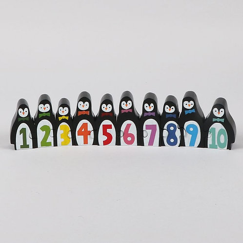 Wooden Penguin Counting Puzzle