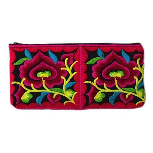 Thai Embroidered Pencil Bag/Purse