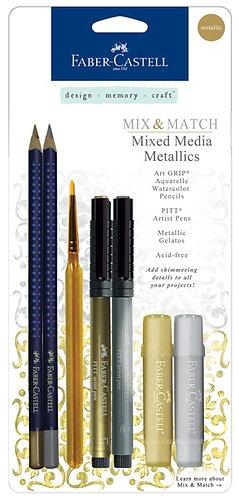 Mixed Media Metallics Set - 7 items