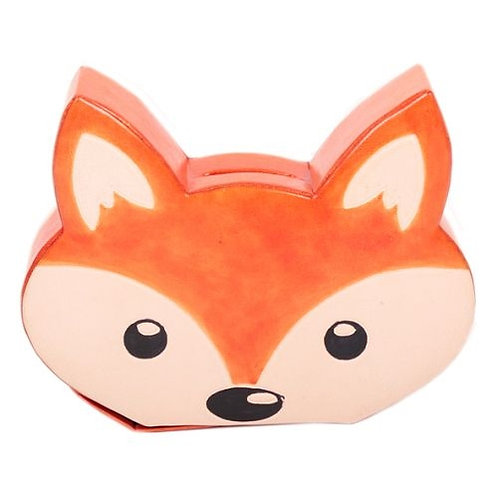 Leather Fox Money Box