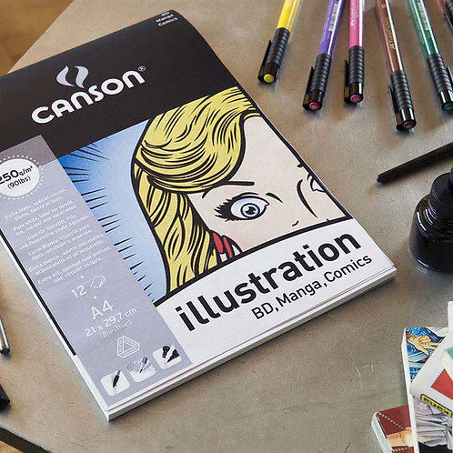 Canson Illustration Paper - Pad of 12 sheets
