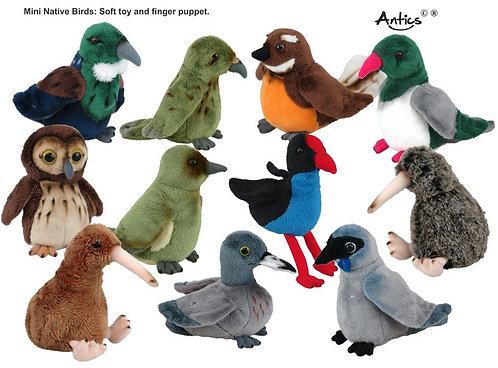 NZ Bird Mini Finger Puppets/Soft Toys