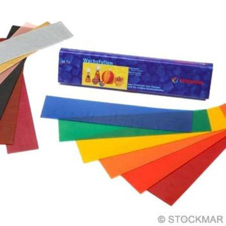 Stockmar Decorating Wax - 12 assorted sheets