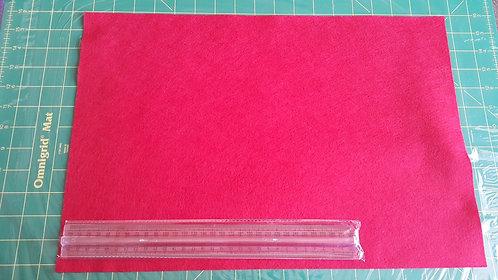 1 x Large WoolFelt Sheet - Red
