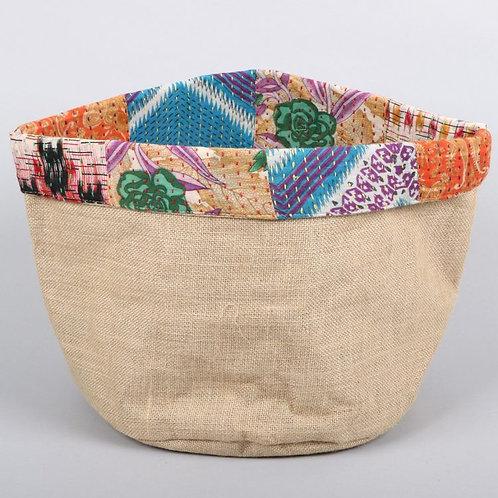 Reversible Sari Trim Basket - Large
