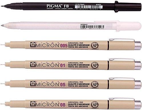 Sakura Pigma MANGA SET - 6 pens
