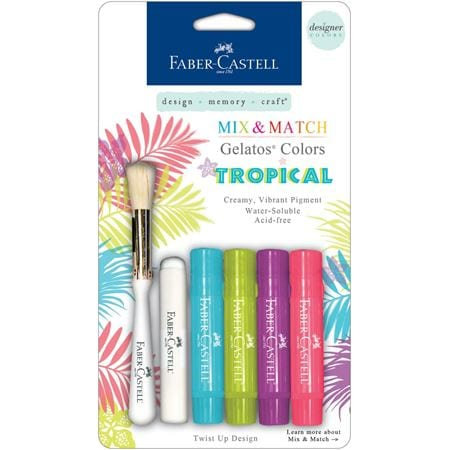 Gelatos - Tropical Colours - Set of 4 with brush