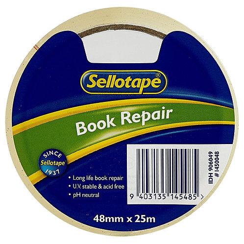 Sellotape Book Repair Tape - clear - 48mm x 25m